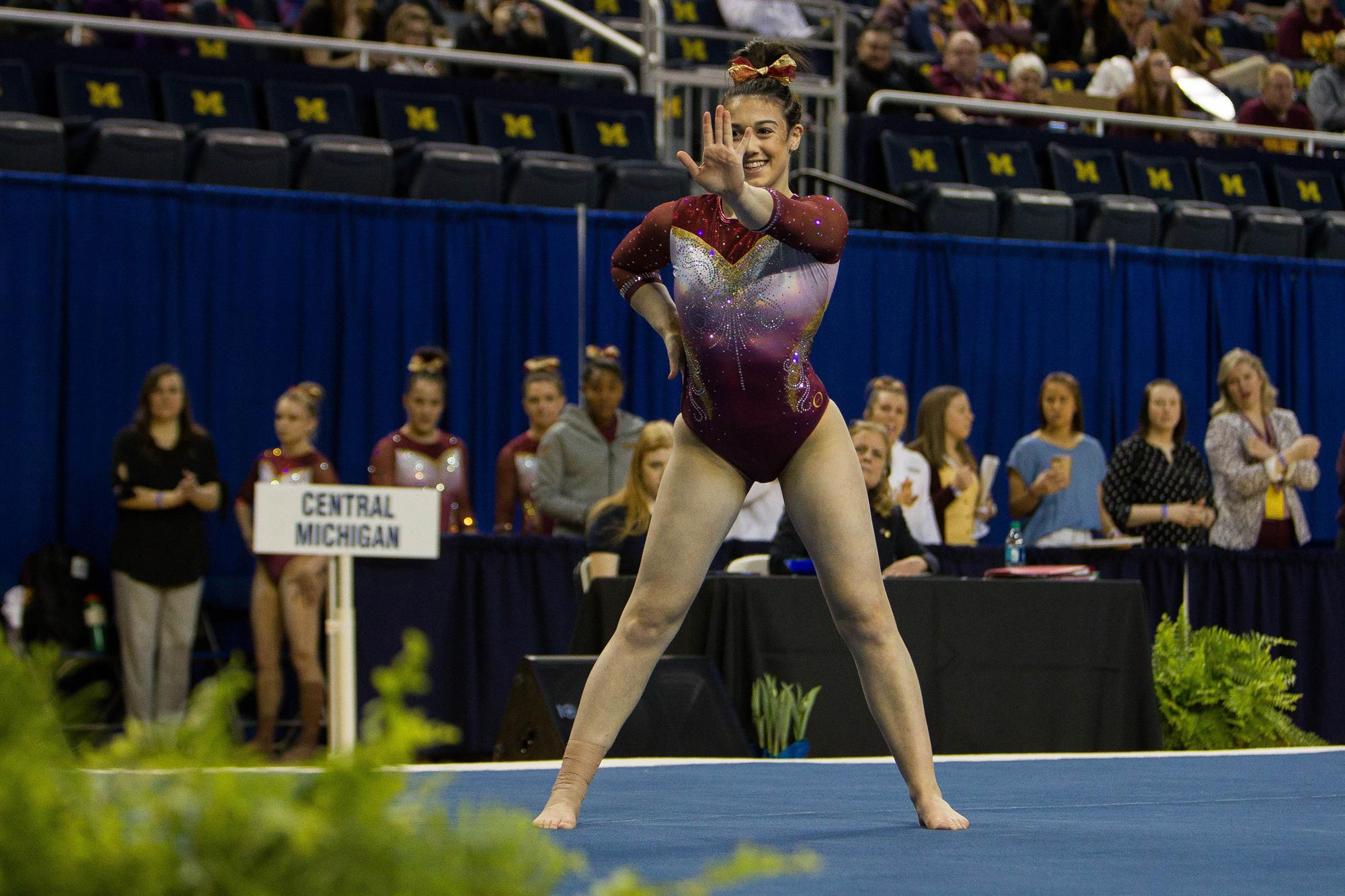 4653566e51f1 Heartbreakingly Close For CMU Gymnasts - Central Michigan University ...